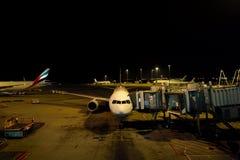 Ελλιμενισμένα αεροσκάφη αεριωθούμενων αεροπλάνων Στοκ φωτογραφία με δικαίωμα ελεύθερης χρήσης
