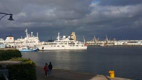 ελλιμενισμένα σκάφη Στοκ Εικόνες