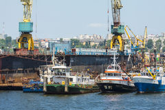 Ελλιμενισμένα tugboats Στοκ φωτογραφία με δικαίωμα ελεύθερης χρήσης