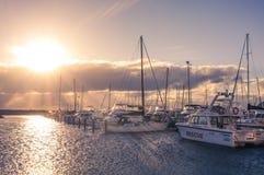 Ελλιμενισμένες βάρκες στοκ εικόνα με δικαίωμα ελεύθερης χρήσης