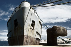 Ελλιμενισμένο σκάφος Στοκ Εικόνα