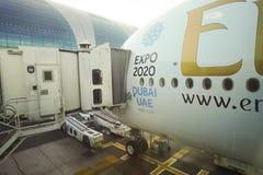Ελλιμενισμένο airbus A380 Στοκ εικόνα με δικαίωμα ελεύθερης χρήσης