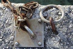 Ελλιμενισμός - δαχτυλίδι μετάλλων Στοκ εικόνα με δικαίωμα ελεύθερης χρήσης