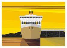 Ελλιμενισμός επιβατηγών πλοίων Στοκ φωτογραφίες με δικαίωμα ελεύθερης χρήσης