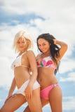 Ελκυστικά κορίτσια στα μαγιό Στοκ εικόνα με δικαίωμα ελεύθερης χρήσης