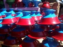 Ελκυστικά χρωματισμένα εργαλεία φιαγμένα από λάσπη Στοκ Εικόνα