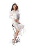 ελκυστικές ανασκόπησης αριστοκρατικές φορεμάτων μίμησης νεολαίες λευκών γυναικών στούντιο της Marilyn καλυμμένες το Μονρόε Στοκ φωτογραφία με δικαίωμα ελεύθερης χρήσης
