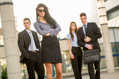 Ελκυστική νέα επιχειρηματίας Στοκ Φωτογραφίες