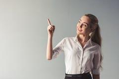 Ελκυστική νέα επιχειρησιακή κυρία Στοκ Εικόνα
