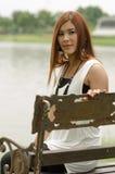 Ελκυστική νέα redhead ασιατική γυναίκα στοκ εικόνα