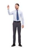 Ελκυστικός επιχειρηματίας ή δάσκαλος με το δείκτη Στοκ εικόνα με δικαίωμα ελεύθερης χρήσης