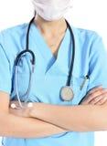 Ελκυστικός νέος γιατρός γυναικών Στοκ Εικόνα
