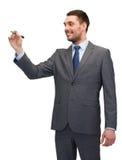 Ελκυστικός buisnessman ή δάσκαλος με το δείκτη Στοκ εικόνα με δικαίωμα ελεύθερης χρήσης