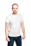 Ελκυστικό άτομο με τις σφιγγμένες πυγμές Στοκ Φωτογραφία