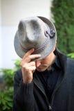 Άτομο με το καπέλο Στοκ Φωτογραφία