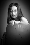 Ελκυστικό ασιατικό κορίτσι στη δεκαετία του '20 της στο θέατρο Στοκ Εικόνες