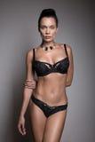 ελκυστικό lingerie κοριτσιών brunette Στοκ φωτογραφία με δικαίωμα ελεύθερης χρήσης