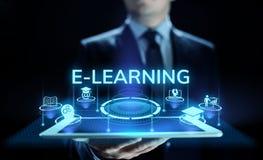 Ε-μαθαίνοντας Διαδικτύου εκπαίδευσης έννοια ανάπτυξης δεξιοτήτων μόνη στην οθόνη στοκ εικόνες με δικαίωμα ελεύθερης χρήσης