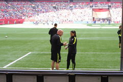 Ελπίδα σόλο, ένας αμερικανικός τερματοφύλακας ποδοσφαίρου Στοκ Εικόνα