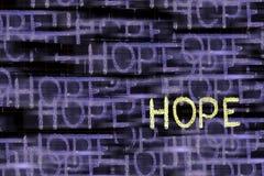 Ελπίδα Word στοκ φωτογραφίες