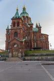 Ελσίνκι, Φινλανδία Καθεδρικός ναός της υπόθεσης της ευλογημένης Virgin Mary Στοκ Φωτογραφίες