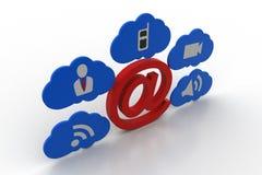 Ε - σημάδι ταχυδρομείου με app τα εικονίδια Στοκ Εικόνες