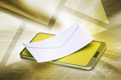 Ε - ταχυδρομείο με τον υπολογιστή ταμπλετών Στοκ φωτογραφία με δικαίωμα ελεύθερης χρήσης
