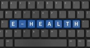 Ε-υγεία κειμένων Στοκ εικόνα με δικαίωμα ελεύθερης χρήσης