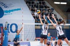 Ε Vasileva &#x28 18&#x29  και Ι Zaryazhko &#x28 6&#x29  υπερασπίστε στοκ εικόνες