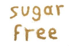 Ζάχαρη λέξης ελεύθερη που γράφει με την καφετιά ζάχαρη Στοκ φωτογραφίες με δικαίωμα ελεύθερης χρήσης