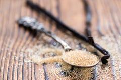 Ζάχαρη βανίλιας (καφετιά) Στοκ φωτογραφία με δικαίωμα ελεύθερης χρήσης