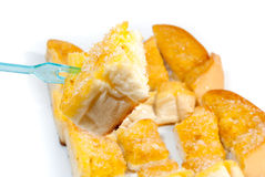 Ζάχαρη και βουτύρου φρυγανιά στο κλίμα στοκ εικόνα