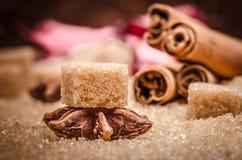 Ζάχαρη και καρύκευμα Στοκ φωτογραφία με δικαίωμα ελεύθερης χρήσης