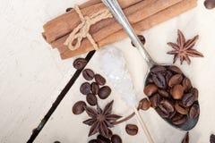 Ζάχαρη και καρύκευμα Coffe Στοκ φωτογραφίες με δικαίωμα ελεύθερης χρήσης