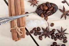Ζάχαρη και καρύκευμα Coffe Στοκ φωτογραφία με δικαίωμα ελεύθερης χρήσης