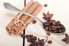 Ζάχαρη και καρύκευμα Coffe Στοκ εικόνα με δικαίωμα ελεύθερης χρήσης