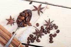 Ζάχαρη και καρύκευμα Coffe Στοκ Εικόνες