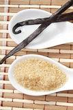 Ζάχαρη καλάμων και λοβός βανίλιας Στοκ φωτογραφία με δικαίωμα ελεύθερης χρήσης