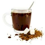 ζάχαρη κουπών γυαλιού καφέ Στοκ εικόνες με δικαίωμα ελεύθερης χρήσης