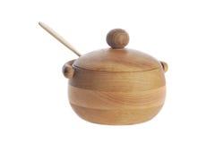 ζάχαρη κύπελλων ξύλινη Στοκ φωτογραφία με δικαίωμα ελεύθερης χρήσης