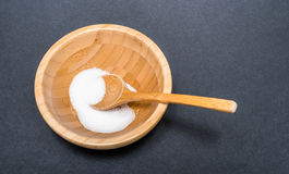 Ζάχαρη σε ένα κύπελλο μπαμπού Στοκ φωτογραφία με δικαίωμα ελεύθερης χρήσης