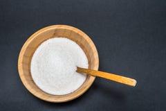 Ζάχαρη σε ένα κύπελλο μπαμπού Στοκ εικόνες με δικαίωμα ελεύθερης χρήσης