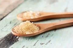 Ζάχαρη στο κουτάλι στοκ εικόνα