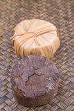 Ζάχαρη σφρίγους φοινικών στο ξηρό περιτύλιγμα ΙΙ φύλλων Στοκ Φωτογραφία
