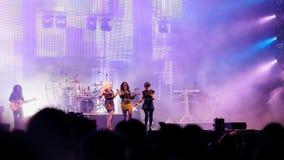 Ζάχαρη Babes στη συναυλία Στοκ φωτογραφία με δικαίωμα ελεύθερης χρήσης