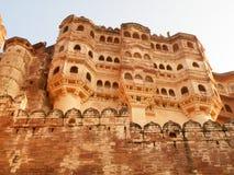 Ζάλη του παλαιού φρουρίου στο Rajasthan, Ινδία Στοκ Φωτογραφία