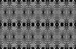 Ζέβες άνευ ραφής σχέδιο Ζέβες κεφάλι μαύρο λευκό ελεύθερη απεικόνιση δικαιώματος