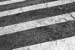 Ζέβρα Οδικός χαρακτηρισμός για τους πεζούς περάσματος Στοκ Εικόνες