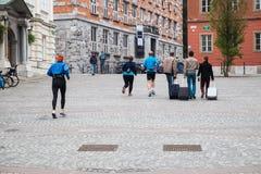 Ζέσταμα δρομέων Στοκ εικόνες με δικαίωμα ελεύθερης χρήσης