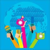 Ζήστε έννοια εκθέσεων, Στοκ εικόνα με δικαίωμα ελεύθερης χρήσης